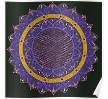 Indigo Mandala Poster