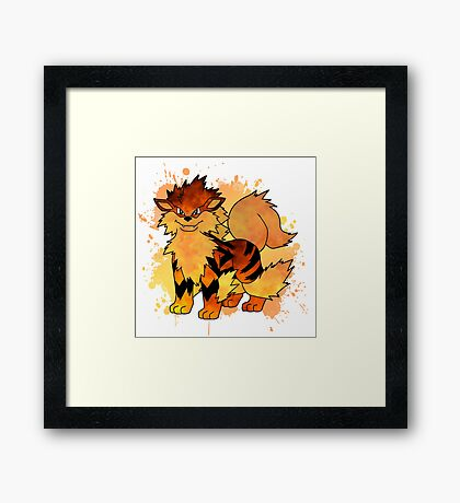 Arcanine - with background Framed Print