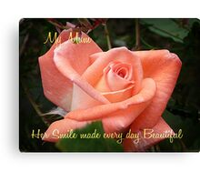 Violet Carson - Mother's Day Card Canvas Print