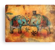 Vintage Elephants Metal Print