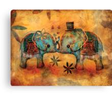 Vintage Elephants Canvas Print