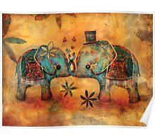 Vintage Elephants Poster