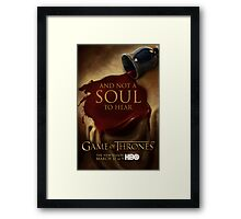 Game of Thrones Season 3 Wine poster Framed Print