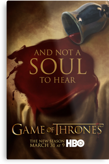 Game of Thrones Season 3 Wine poster by JenSnow
