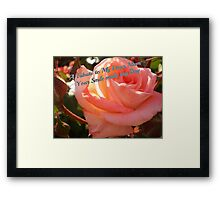 Violet Carson greets Mum on Mother's Day Framed Print