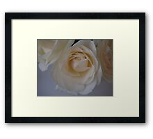 movie star boudoir white roses.  Framed Print