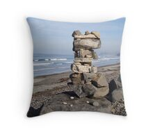 Seaside Rock Stack North Throw Pillow