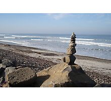 Seaside Rock Stack Tower Photographic Print