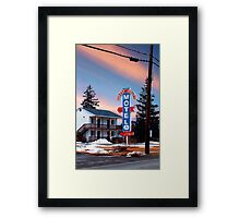 Circle Court Motel Framed Print