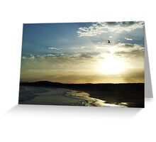 Sunset at Soldiers Beach.  Greeting Card