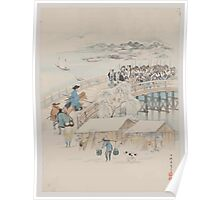 Jūichidanme   act eleven of the Chūshingura   headed for the shrine 001 Poster