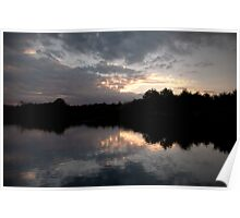 Mirorred Sunset Sky Poster