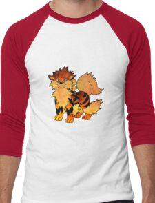 Arcanine Men's Baseball ¾ T-Shirt