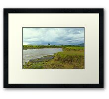 River Mara in Kenya Framed Print