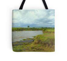 River Mara in Kenya Tote Bag