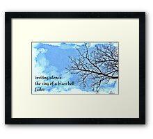 winter tree haiga Framed Print