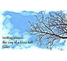 winter tree haiga Photographic Print