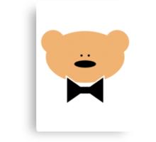 Teddy-Bear wears a Bow Tie Canvas Print