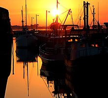 fishing port at dawn by Steve Scully