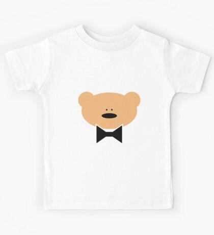 Teddy-Bear wears a Bow Tie Kids Tee