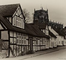 Aged Malpas Village by David J Knight