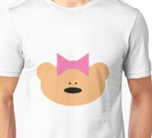 Teddy bear girl with hair ribbon Unisex T-Shirt