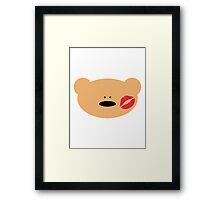 Teddy Bear Kiss Framed Print