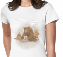 The teddy bear myth: busted Womens Fitted T-Shirt