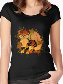 Arcanine - with background Women's Fitted Scoop T-Shirt