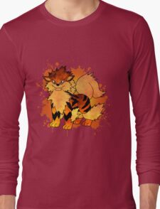 Arcanine - with background Long Sleeve T-Shirt