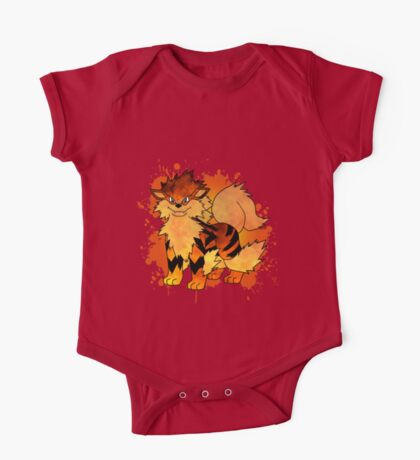 Arcanine - with background One Piece - Short Sleeve