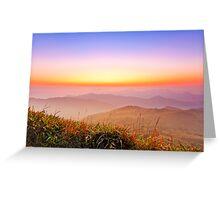 Sunrise at mountains in Hong Kong Greeting Card