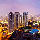 Hong Kong at night by kawing921