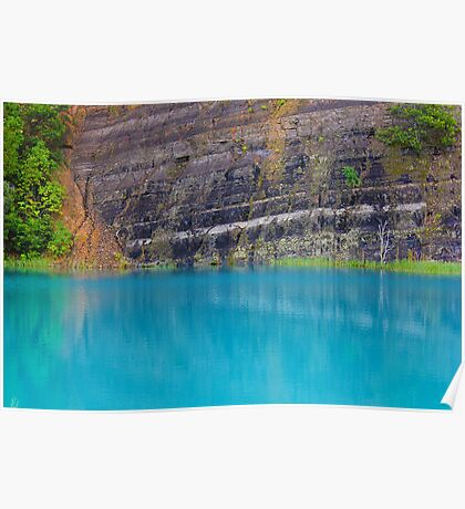 Turquoise Quarry  Poster
