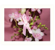 Pink for Breast Cancer Art Print