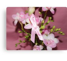 Pink for Breast Cancer Canvas Print