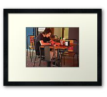 in the red zone Framed Print