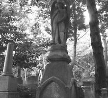 Highgate Cemetery Angel Gabriel by himmstudios