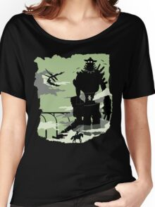 Silhouette of the Colossus Women's Relaxed Fit T-Shirt