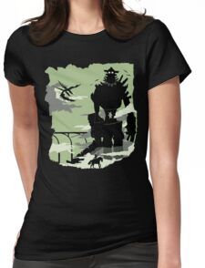 Silhouette of the Colossus Womens Fitted T-Shirt