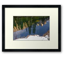 Three Brothers Reflected in the Merced River Framed Print