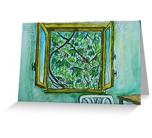 Watercolor Sketch - The Window to Summer. Greeting Card