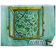 Watercolor Sketch - The Window to Summer. Poster