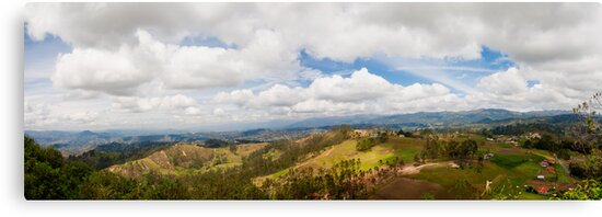 Andes Panorama From Atop Cojitambo, Ecuador by Paul Wolf