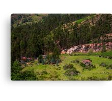 View From Atop Cojitambo, Ecuador Canvas Print