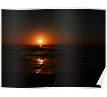 Cloudless at Sunset Poster