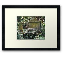 Highgate Cemetery the Chief Mourner Framed Print