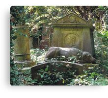 Highgate Cemetery the Chief Mourner Canvas Print
