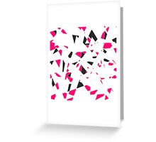 Pink, Black, and White Modern Geo Triangle Pattern Greeting Card