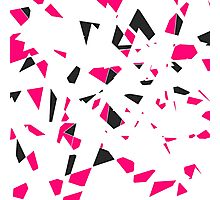 Pink, Black, and White Modern Geo Triangle Pattern Photographic Print